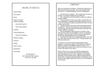 Wade in the Water Funeral Program Template