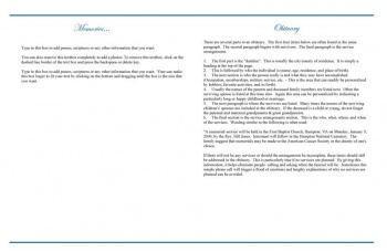 Precious Blue Angel Large Funeral Program Template