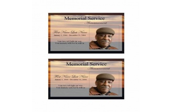 Brown Sunset  Funeral Announcement Template