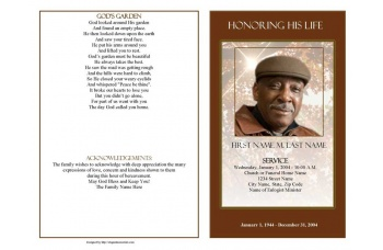 Ray of Sunshine Funeral Program Template - Graduated Fold