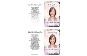 Pastel Memories Funeral Card Template