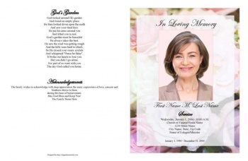 Pastel Memories Large Funeral Program Template