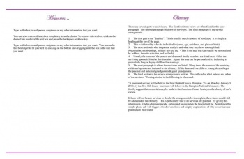 Lovely Purple Rose Large Funeral Program Template