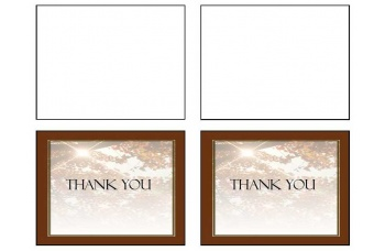 Ray of Sunshine Thank You Card Template