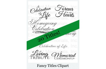 Funeral Program Fancy Titles Vol. 1