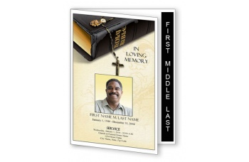 Bible Memories Funeral Program Template - Graduated Fold