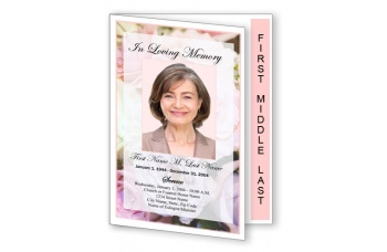 Pastel Memories Funeral Program Template - Graduated Fold