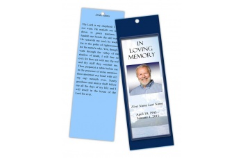 Mountain Memory Bookmark Template