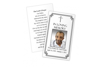 Classic Cross Memorial Prayer Card Template