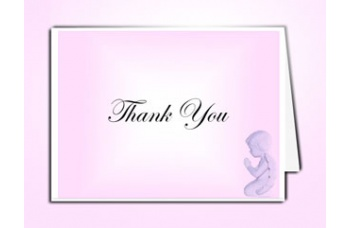 Precious Pink Angel Thank You Card Template