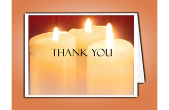 sacred candles thank you card template elegant memorials. Black Bedroom Furniture Sets. Home Design Ideas