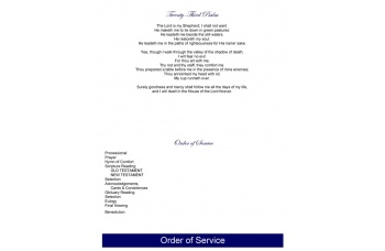 Blue Sky Funeral Program Template - Bottom Graduated Fold