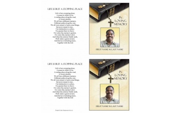 Bible Memories Funeral Card Template