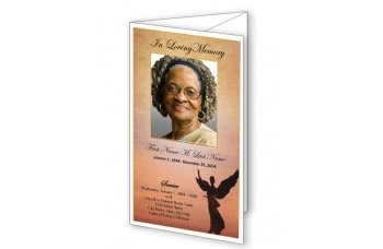 Beloved Angel Trifold Funeral Program Template