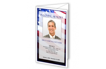 Patriotic (US) Trifold Funeral Program Template