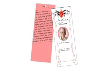 vintage_rose_red_bookmark_template