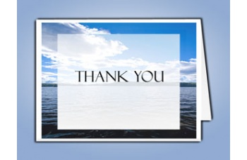 Wade in Water Thank You Card Template