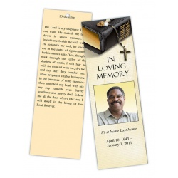 Bible Memories Memorial Bookmark Template