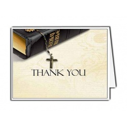 Bible Memories Thank You Card Template