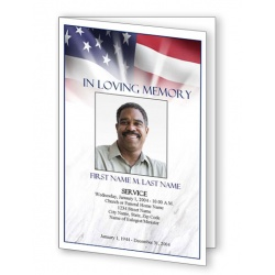American Memories Funeral Program Template