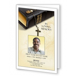 Bible Memories Funeral Program Template