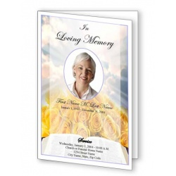 Bible Roses Funeral Program Template