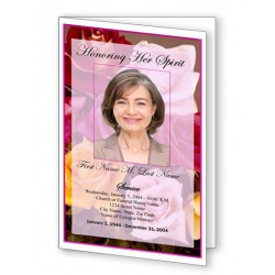 Flowers of Devotion Funeral Program Template