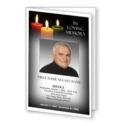 Glowing Memories Funeral Program Template