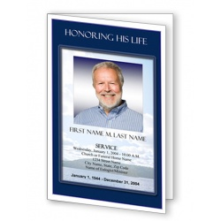 Mountain Memory Funeral Program Template