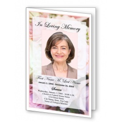 Pastel Memories Funeral Program Template