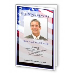 Patriotic (US) Funeral Program Template