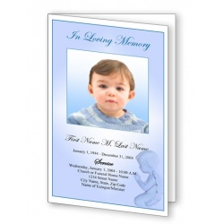 Precious Blue Angel Funeral Program Template