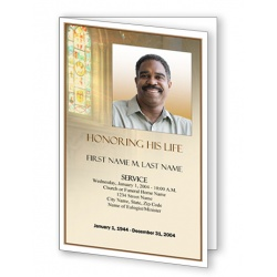 Shine Brightly Funeral Program Template