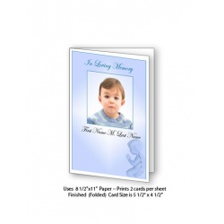 Precious Blue Angel Funeral Card