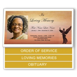 Beloved Angel Funeral Program Template - Bottom Graduated Fold