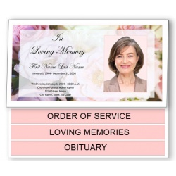 Pastel Memories Funeral Program Template - Bottom Graduated Fold
