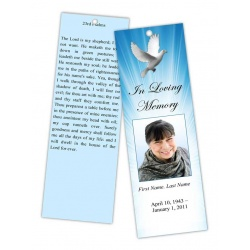 Celestial Dove Bookmark Template