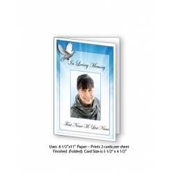 Celestial Dove Funeral Card Template