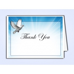 Celestial Dove Thank You Card Template