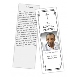 Classic Cross Bookmark Template