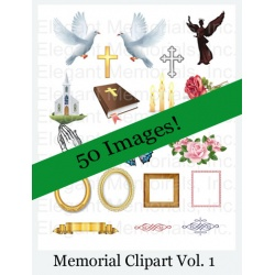 Funeral Program and Memorial Clipart Vol. 1