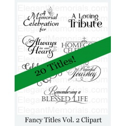 Funeral Program Fancy Titles Vol. 2