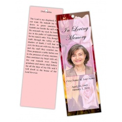 Flowers of Devotion Bookmark Template