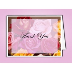 Flowers of Devotion Thank You Card Template