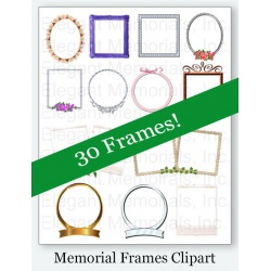 Funeral Program Frames Clipart Vol. 1