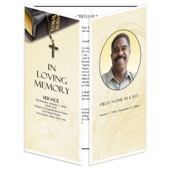 Bible Memories Gatefold Funeral Program Template