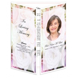 Pastel Memories Gatefold Funeral Program Template