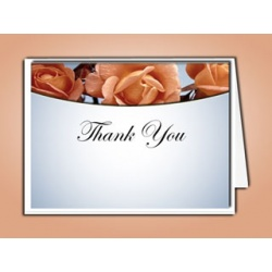 Memorial Roses Thank You Card Template