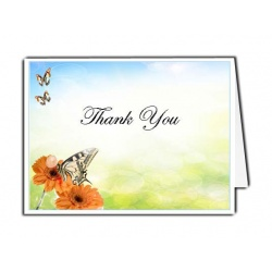 Beautiful Butterfly Thank You Card Template