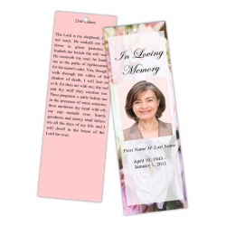Pastel Memories Bookmark Template